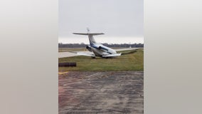'Mishap' forces small plane off runway at Coleman A Young International Airport