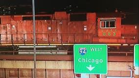 Train crash on Schaefer Road and I-94 causes Hazmat cleanup