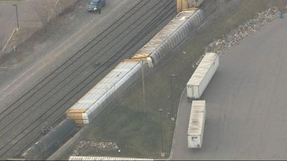 Train derails near Clark Street in Detroit