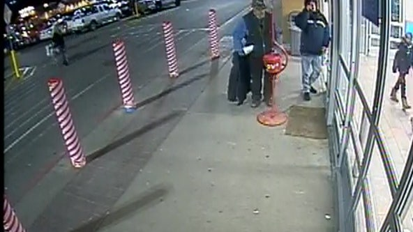 Thief steals Salvation Army donation kettle from bellringer at Walmart entrance