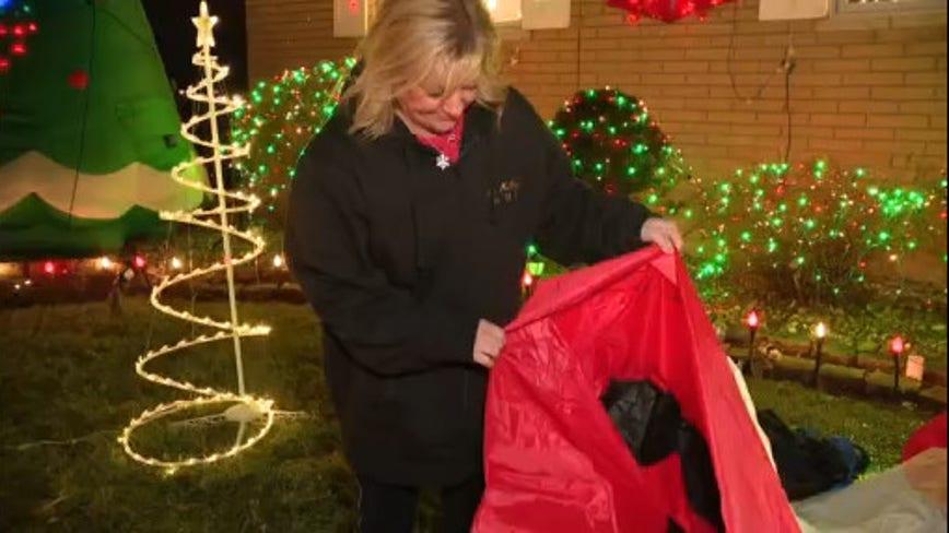 Westland woman has 16-feet Santa destroyed, Christmas decorations vandalized