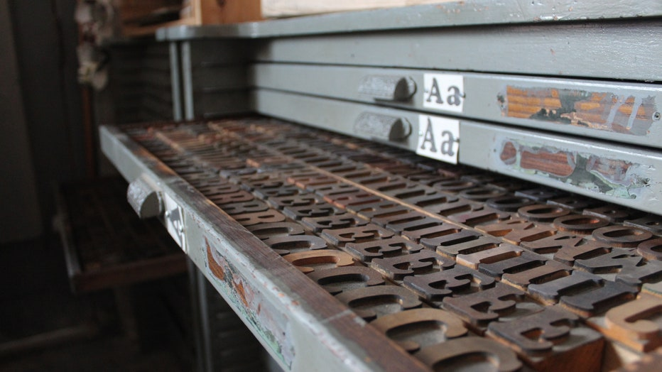 Wooden type that printers lay out on letter presses.