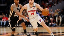 Rose, Mykhailiuk spark Pistons to win over Hawks