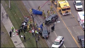 1 woman killed, 2 others seriously hurt in multi-car crash on John R