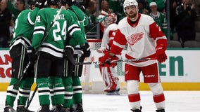 Pavelski helps Stars beat Red Wings