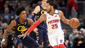 Rose's late shot leads Pistons past Cavaliers 115-113