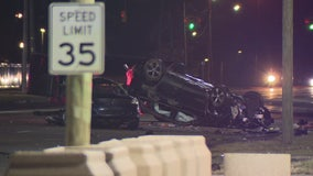 Man killed in crash on Detroit's west side, other driver took off running
