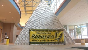Michigan high school builds world's unofficial largest toilet paper pyramid