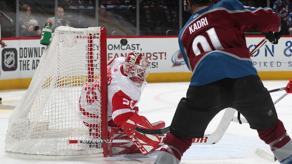Kadri scores twice, propels Avs past reeling Red Wings 6-3