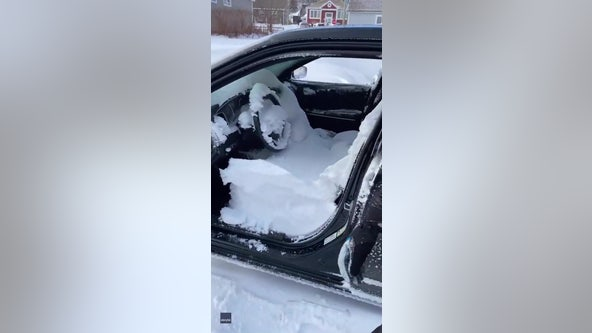 Newfoundland woman learns hard way to remember to roll windows up before a snowstorm