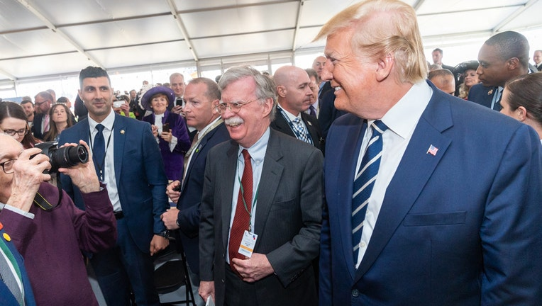 President Donald J. Trump joined by White House National Security Advisor Ambassador John Bolton participate in a meet and greet with active duty U.S. Service Members stationed in the United Kingdom Wednesday, June 5, 2019, at the Southsea Common in Portsmouth, England. (Official White House Photo by Shealah Craighead)