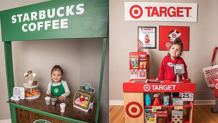 Though Ariah clearly enjoys her new set up – she even made Target Employee of the Month, according to a framed photo behind the tiny checkout counter – her mom Renee Doby-Becht admits she might like it more. (Brigette Doby)