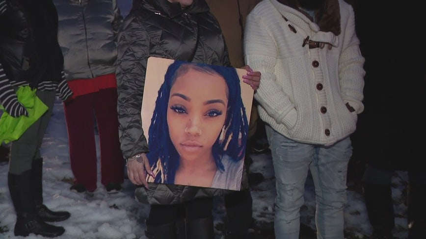 Family and friends hold vigil for Keneisha Williams, mother of 3 fatally shot in Pontiac