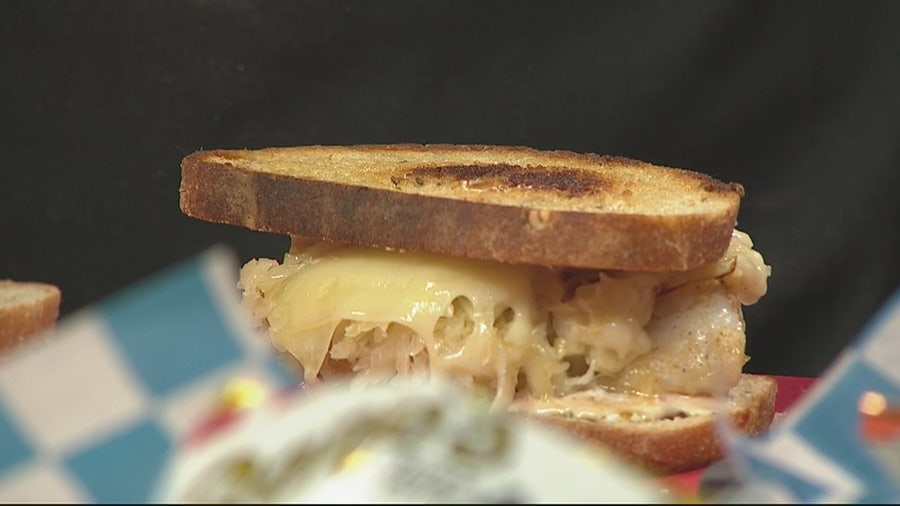 Making grouper reuben with Hazels, Ravines and Downtown