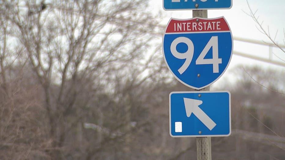 An I-94 street sign