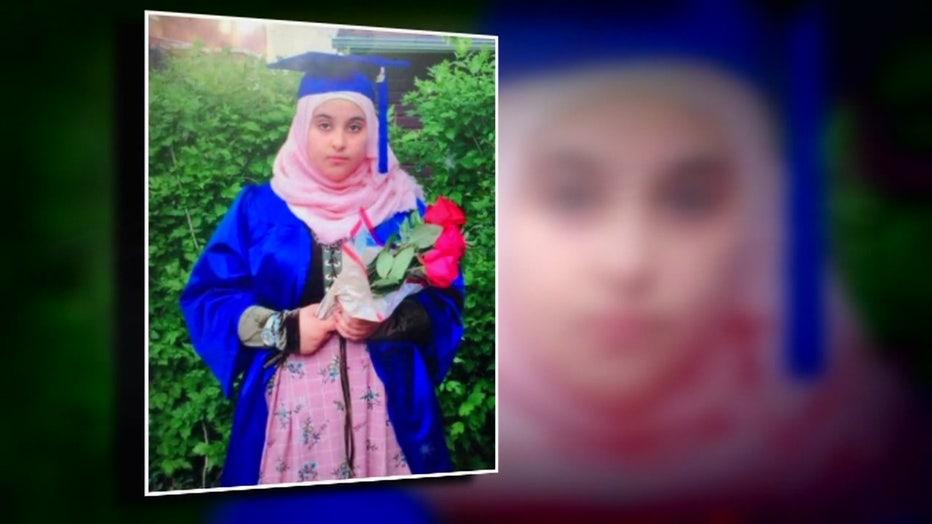 A graduation photo of Reem Alsaidi