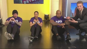 Will Power Fitness stops in the studio!