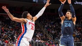 Valanciunas scores 26, leads Grizzlies over Pistons 96-82