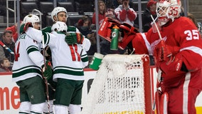 Dumba's 2 goals, assist lead Wild to 7-1 win over Red Wings