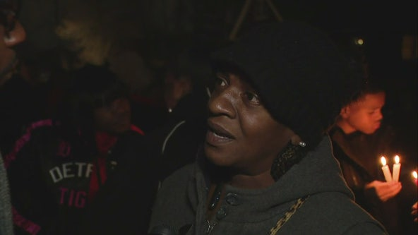 Family of one of Kenyel Brown's victims hold vigil; express relief at capture