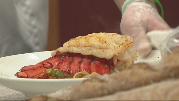 Making a lobster pasta with Andiamo