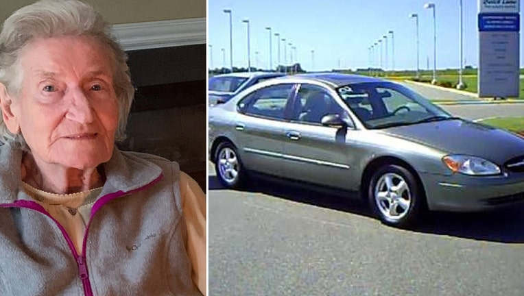 A photo of Irene Kin, and a 2002 Ford Taurus