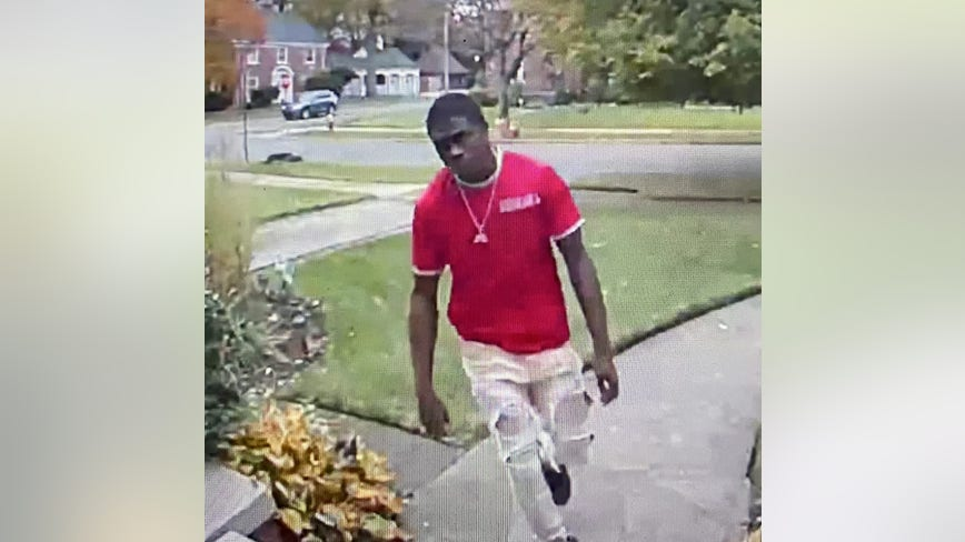 Detroit Police search for suspect wanted in connection to larceny on city's west side