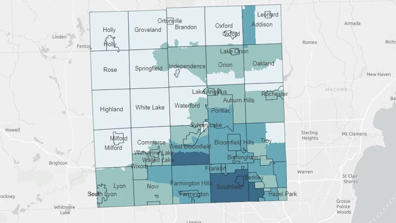 southeast michigan zip code map Oakland County Unveils Heatmap Of Covid 19 Cases By Zipcode