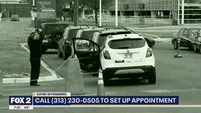 Drive-through testing for coronavirus kicks off in Detroit Friday morning