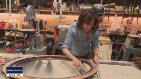 Jill of All Trades puts finishing coat on mirror frame
