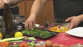 Making Gramma Liza's Lebanese Lenten omelette with Chef Bobby