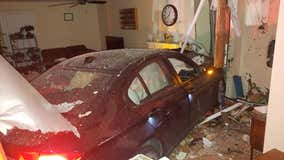 Car crashes into home overnight in Ann Arbor