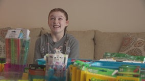 Brownstown 11-year-old collects school supplies for children in need