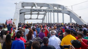 Democratic candidates join Selma bridge march