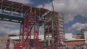 Last days of Joe Louis Arena as final steel beams come down