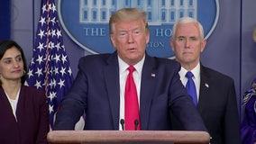 President Trump signs a $100 billion coronavirus aid package, guaranteeing sick leave, free testing