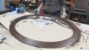 How to stain a mirror frame