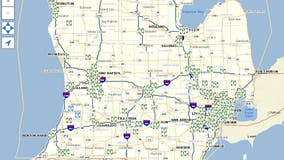 Map of available free meals for students in Mich. amid school closures