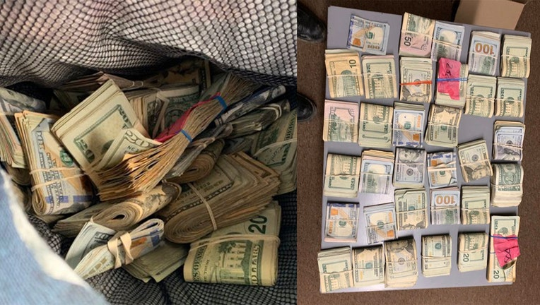 Michigan State Police seized $40,000 during a traffic stop on I-75 in Monroe County Tuesday morning.