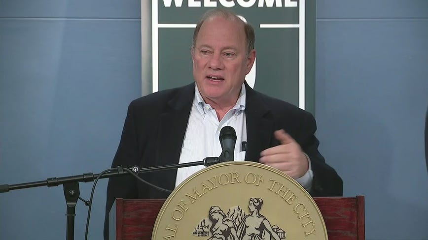Detroit Mayor Mike Duggan gives update after first weekend of drive-thru coronavirus testing