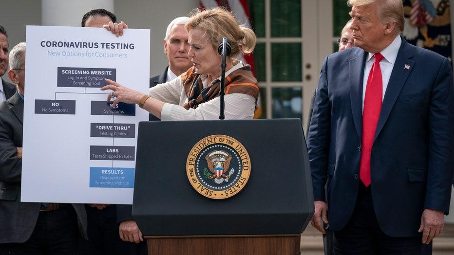 43e7b6e2-President Trump Speaks To The Nation From White House Amid Coronavirus Pandemic