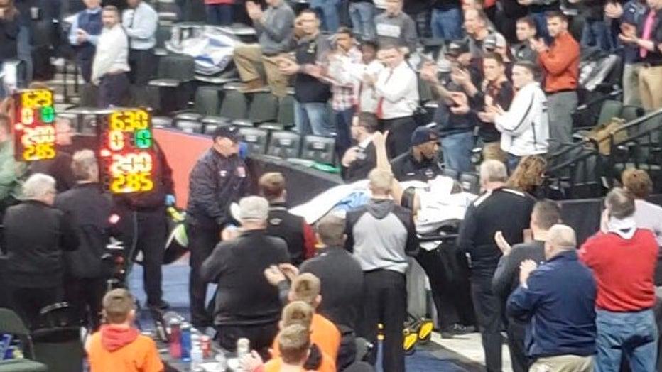 Becker, Minn. wrestler gives thumbs up