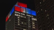 Downtown Detroit to light up red, white and blue as thank you to essential workers