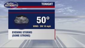 Chance for severe weather Tuesday night