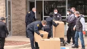 Detroit Rescue Mission, Dearborn cops deliver food at senior living apartments