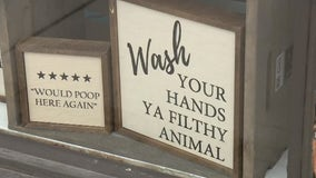 Royal Oak's Made in the Mitten store's funny bathroom signs are a hit