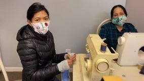 Immigrant women make protective masks for those on pandemic front lines