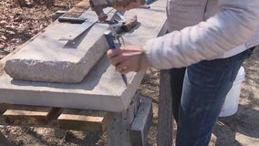 Jazzing up a piece of limestone with Jill of All Trades