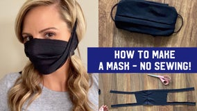 How to make a mask, step-by-step without sewing