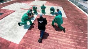 Nurses gather to pray on rooftops during coronavirus pandemic